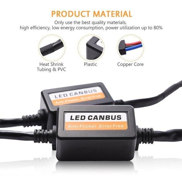 Décodeur enrouleur de voiture H7 H4 H11 HB4 9005 H1 | 2 pièces, résistance à la charge unique ou Canbus H13 9006 9004 9007, câblage sans erreur 9008, annuleur de charge