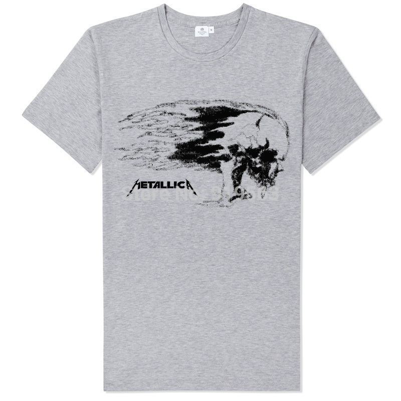 METALLICA BURNING SKULL printing high quality UNISEX T-shirt casual street style