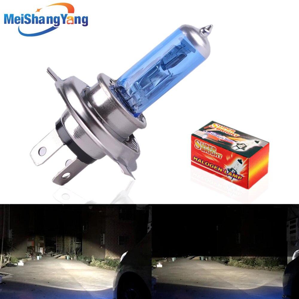 Lâmpada de halogéneo Super Branca H1 H3 H4 H7 H8 H11 9005 HB3 9006 HB4 12V 55W 100W CONDUZIU a Lâmpada de Farol de Carro