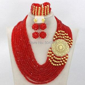 Image 2 - Splendid Nigeria Wedding Hạt Trang Sức Set Choker Necklace Set Phụ Nữ Châu Phi Bridal Jewelry Set Mới Miễn Phí Tàu GS217