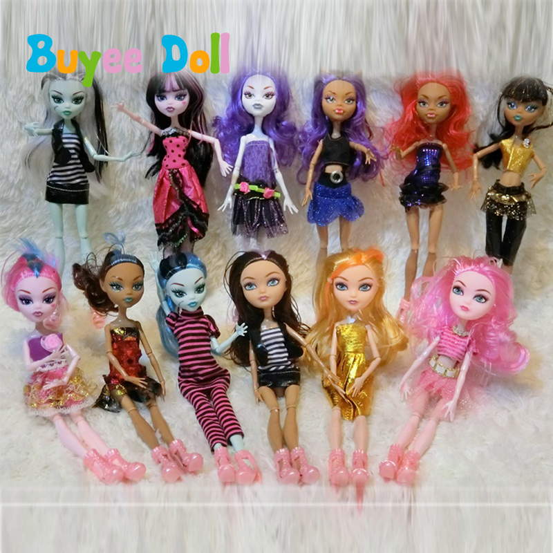 Various Styles Monster Fun High Dolls Monster Draculaura Hight Moveable Joint Doll for Children Best Gift Wholesale Fashion Doll ...