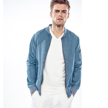 Men's Jeans Collar Jackets Fashion Slim Jacket Tops Casual Outerwear Wash Light Cowboy Coat Zipper Baseball Clothing Autumn Tops