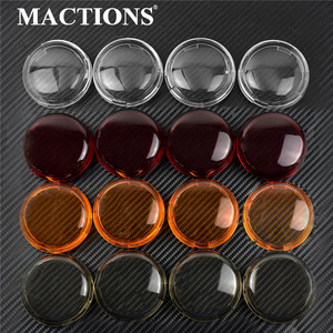 Motorcycle Turn Signal Cover Indicator Lens Light Caps For Harley Sportster 883 1200 Iron XL XR Touring Road King Softail Dyna(China)