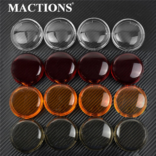 4pcs Motorcycle Turn Signal Indicator Lens Light Cover For Harley Touring Road King Sportster 883 1200 Iron XL Softail Heritage