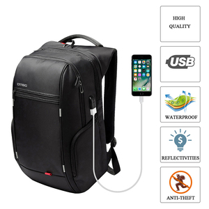 Image 4 - RU Notebook Backpack Anti thef men 15.6 inch With USB Chargring Port Laptop Back pack for Macbook Air pro 13 15 17 case backbag