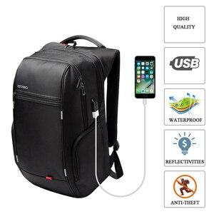 Image 4 - RU Notebook Rucksack Anti thef männer 15,6 zoll Mit USB Chargring Schnur blei Port Laptop Zurück pack für Macbook Air pro 13 15 17 fall rucksack