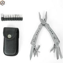 5 teile/los durch DHL Ganzo G201 Multi Werkzeuge Klapp Zange Schere Schraubendreher Outdoor Überleben EDC Multitool Tasche Messer Zangen