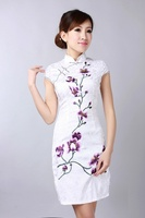 2014 Fashion Style Chinese Women S Tradition Mini Qipao Short Cheongsam Evening Dress Tang S Suit