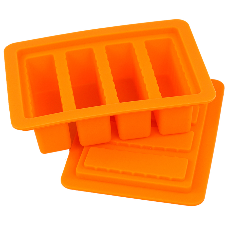 Universal Gourmet Butter Mold Rectangle Silicone Mold For Soap Bar Winkie Energy Bar Muffin Brownie Cornbread Cake Pudding