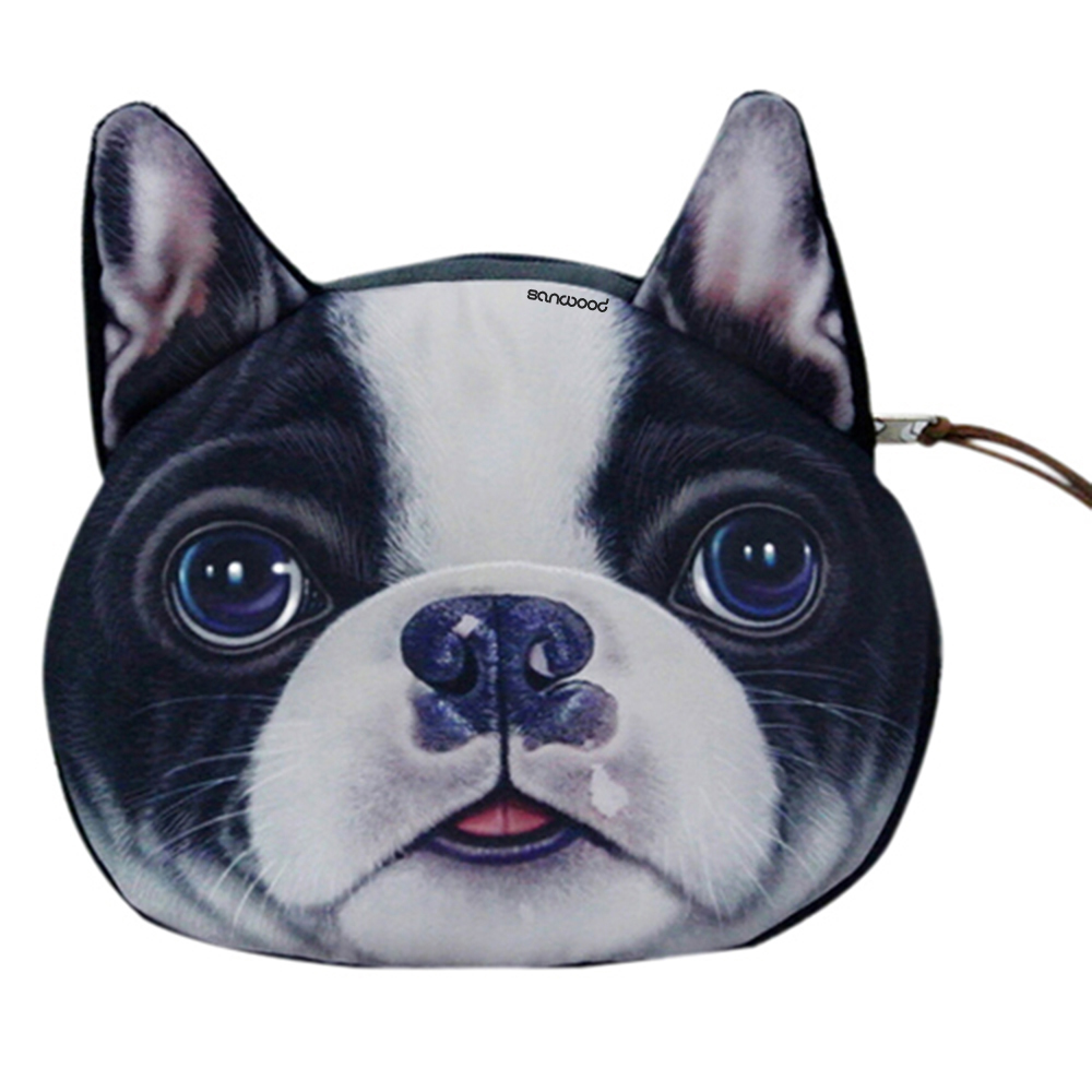 coin purses wallet ladies 3D printing dogs animal big face change fashion cute small zipper bag for women BVLJ 2017new coin purses wallet ladies 3d printing cats dogs animal big face fashion cute small zipper bag for women mini coin purse