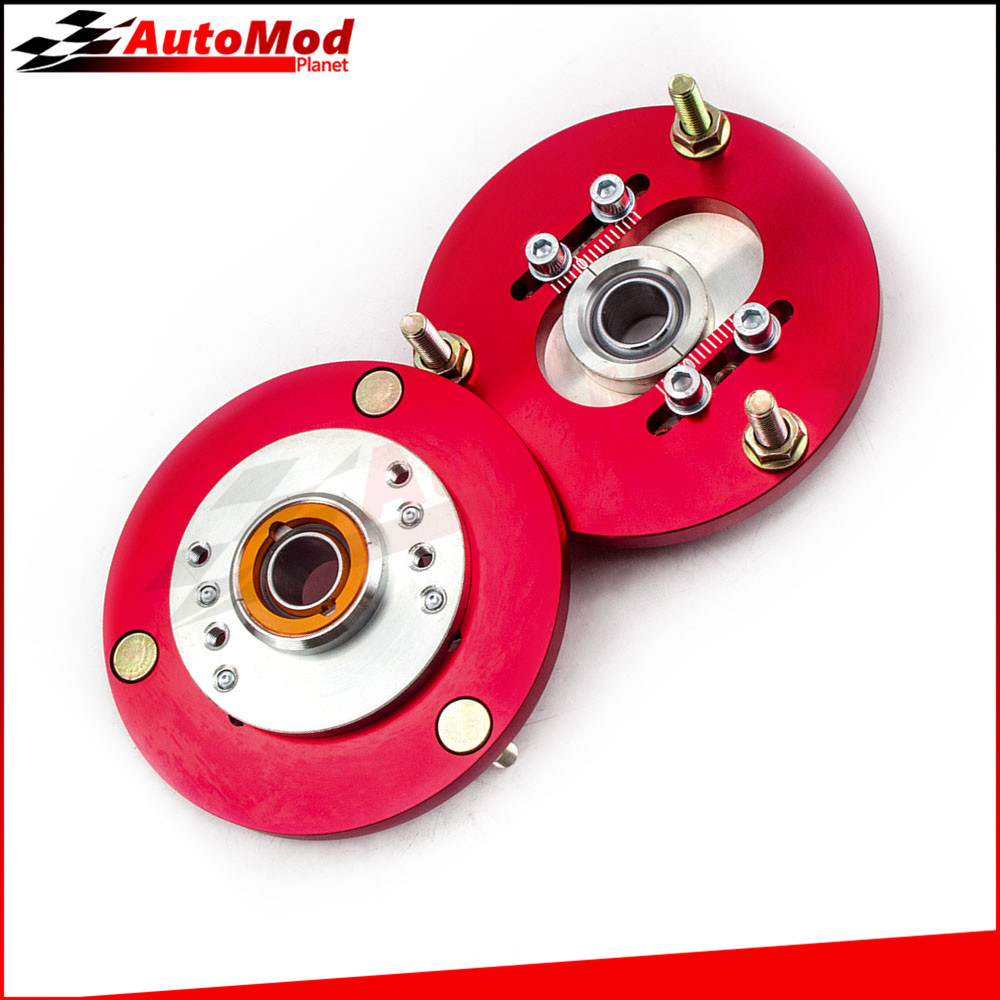 For BMW E36 3 Series M3 1992 -1999 Front Coilover Red Camber Plate Kit 318 320 323 318i 318is 318ic 323i 323ic 325i Suspension for bmw 3 series e36 318 328 323 325 front coilover strut camber plate top mount green drift front domlager top upper mount