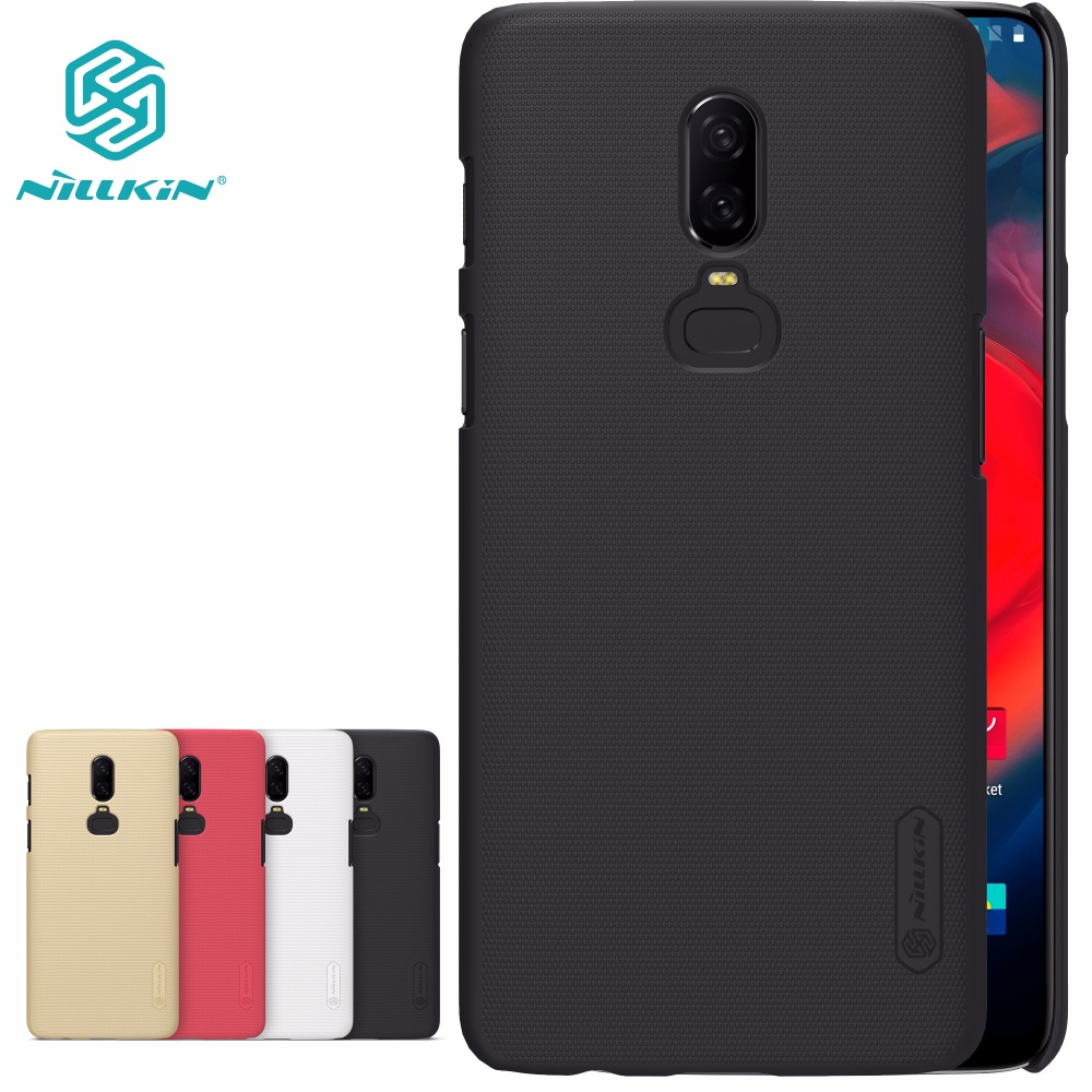 Case Voor Oneplus 6 NILLKIN Super Frosted Shield hard cover case voor oneplus 6T 6 5 5T 3 met Retail-pakket