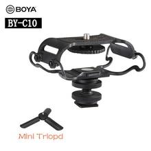 BOYA BY BY C10 Microphone Sốc núi đối với Zoom H4n/H5/H6 đối với Sony Tascam DR 40 DR  05 ghi Microfone Shockmount Olympus Tascam