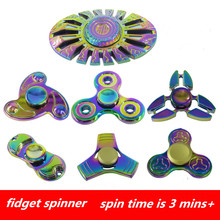 New metal fidget spinner UFO Tri-spinner Zinc hand spinner Aluminum Alloy Fidget Toy Anxiety Stress Adults Kid handspinner Metal