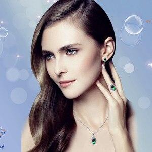 Женский комплект ювелирных изделий Almei, серебряное ожерелье с розовыми стразами, 2017 подарок, T482