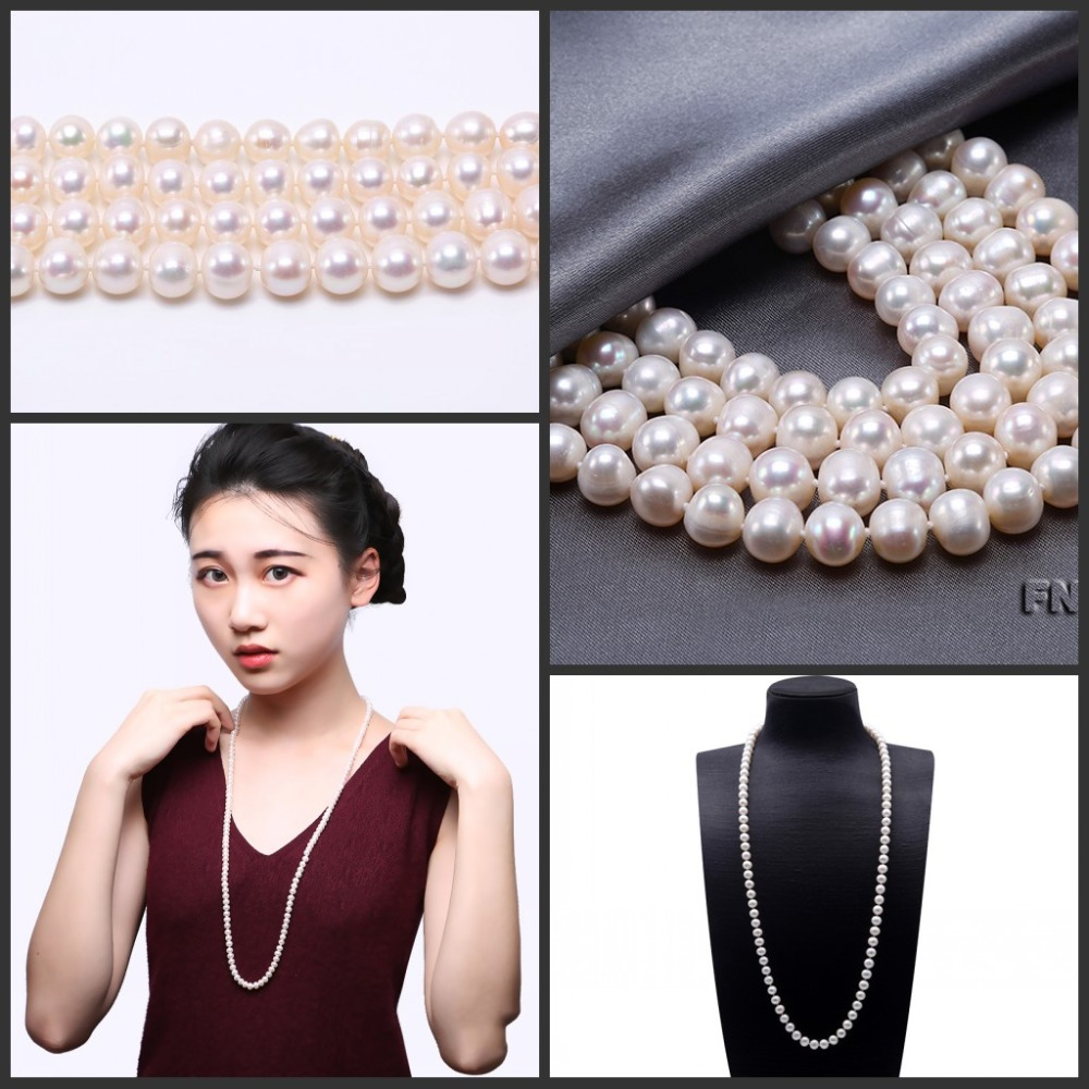HTB16rnOX4rvK1RjSszeq6yObFXav JYX  Pearl Necklace Natural Freshwater Cultured Choker Necklace for Girl Real Pearl  Party Necklace (4-10mm) 328sale necklace