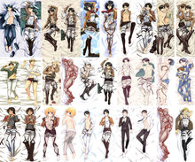 Update Anime Shingeki no Kyojin Attack on Titan Eren Jaeger Ackerman Levi Ymir Dakimakura pillow cover hugging body pillow case(China)