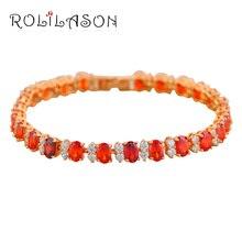 So beautiful Red Garnet Crystal & AAA Zirconia Gold color Bracelets Health Nickel & Lead free Fashion jewelry TB416