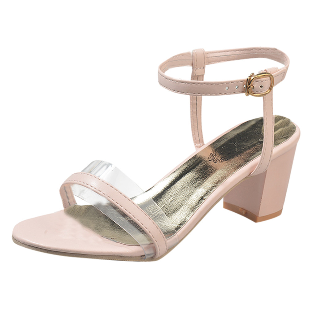 SAGACE Womens Fashion Casual Open Toe Buckle Strap Square Heel High Heel Shoes Sandals Sexy High Quality Solid Ladies ShoesSAGACE Womens Fashion Casual Open Toe Buckle Strap Square Heel High Heel Shoes Sandals Sexy High Quality Solid Ladies Shoes