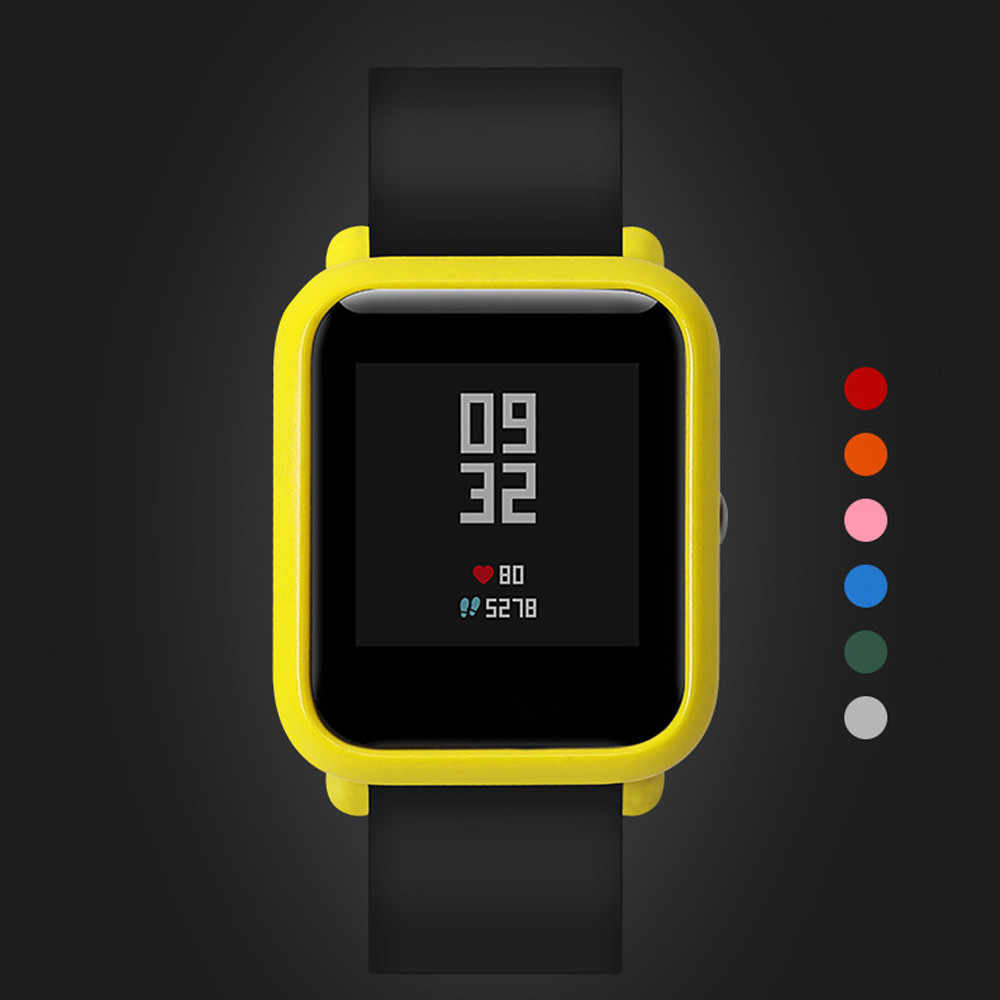 Smart Watch akcesoria kolorowe PC skrzynki pokrywa ochrony powłoki dla Xiaomi Huami Amazfit Bip młodzieży zegarek 2019 # h