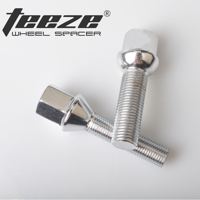 TEEZE-(5 Pcs) Car Styling Wheel Tire Accessories Long Bolts M14x1.5 M14x1.25 M12x1.5 M12x1.25 For Octavia Focus 10.9 Grade Alloy