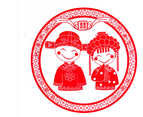 020 Hy Marriage Chinese Wedding Supplies Decorative Window Cartoon Like Electrostatic Sticker 30cm