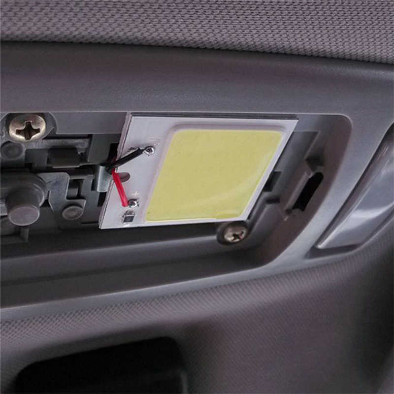 48 SMD COB LED T10 4W 12V Car Interior Panel Lights Headlamp Bulb  White Light