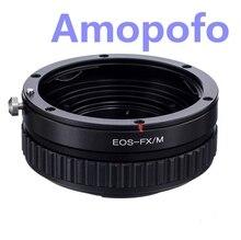 Amopofo para eos-fx/m adaptador para canon ef ef adaptador de lente para fujifilm x-pro1 fx x-e2 macro focando helicóide