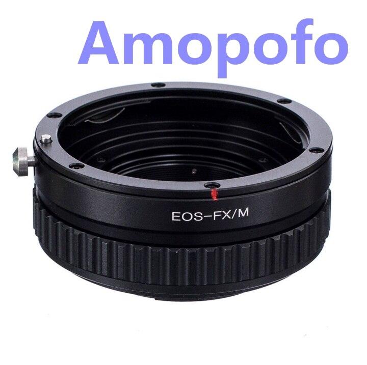 Amopofo Pour EOS-FX/M Adaptateur Pour Canon EF Objectif EF à Fujifilm FX X-Pro1 X-E2 Adaptateur Macro Mise Au Point Hélicoïdale