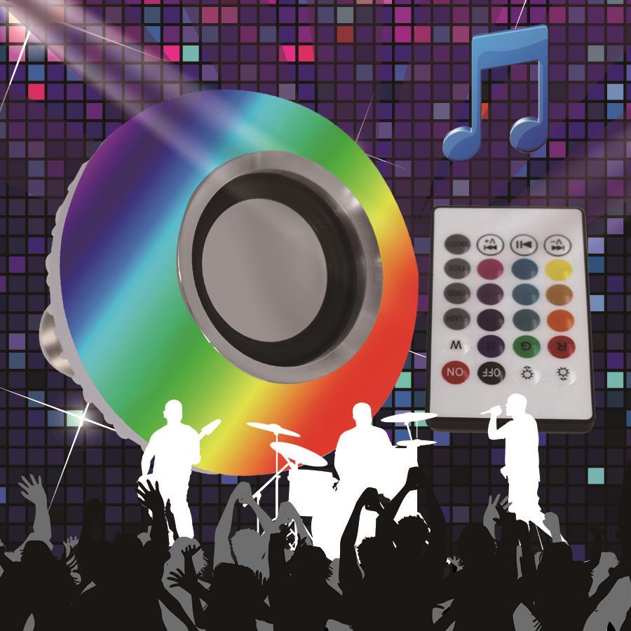 Z30 RGB 5W White color 3W Wireless E27 Bluetooth Remote Control Mini Smart LED Audio Speaker Light Warm Bulb Music Lamp intelligent e27 led lamp white rgb light ball bulb wireless bluetooth remote control mini smart music audio speaker