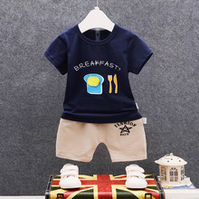 DIIMUU Hot Fashion Summer Boys Clothes Cotton Outfits Children Printing Simple Sets Soft Casual T-Shirts + Short Pants Tracksuit