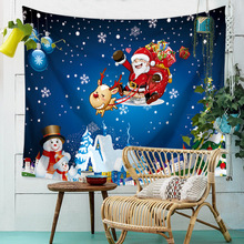купить Christmas Wall Tapestry Santa Claus Snowman Hippie Tapestry Wall Hanging Witchcraft Boho Home Wall Carpet Dorm Tapiz Wall Fabric дешево