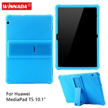 Silicone case for Huawei MediaPad T5 10.1 inch soft rubber tablet cover AGS2-W09/W19/L03/L09 coque para for HONOR MediaPad T5-10 case for funda huawei mediapad m5 lite 10 bah2 w19 l09 w09 cover for huawei t5 10 ags2 w09 l09 l03 w19 tablet case honor pad 5