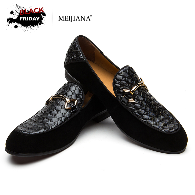 MEIJIANA Luxury Brand Alligator Fashion Casual Men Shoes Genuine Leather Black Slip-on Men Loafers Dress Flats for Driving Party цена