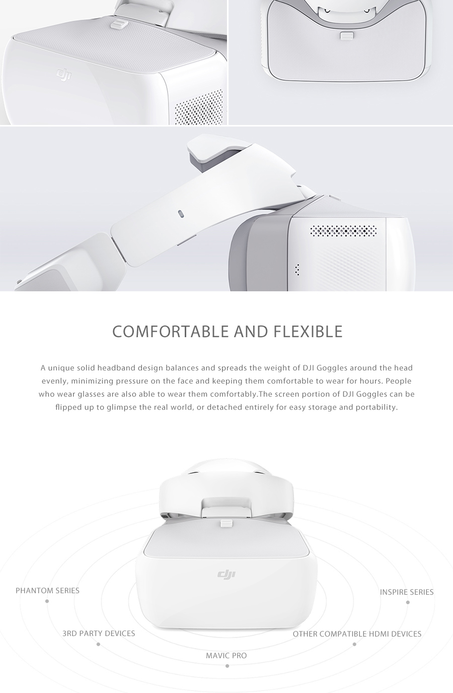 Russia Free Shipping! New 2017 DJI Goggles FPV VR Glasses for DJI Mavic pro Fly phantom 4 pro DJI Inspire Drone Quadcopters