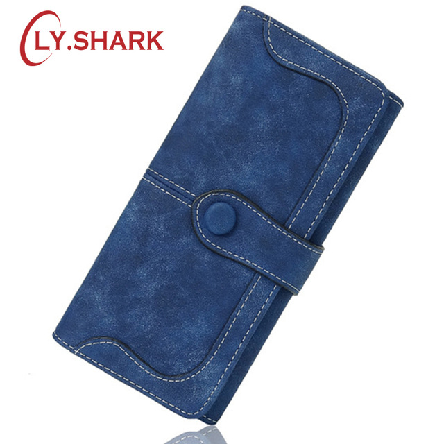 LY.SHARK Nubuck leather wallet women luxury brand coin purse bag female clutch bag Handbags dollar price long wallets carteira