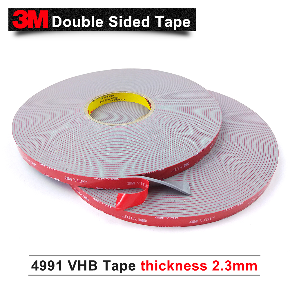 3M VHB 4991 double sided tape/ acrylic adhesive/Outstanding durability performance/ 15mm*16.5m*5rolls/we can offer other size 3m double sided tape vhb 4991 acrylic adhesive tape outstanding durability performance 20mm 16 5m 5rolls we can offer other size