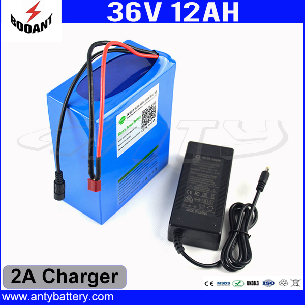 E-Bike Battery 36V 12Ah 850W Use 18650 Cell 30A BMS E-Scooter Battery 36V With 2A Charger Lithium Battery Pack 36V Free Shipping free customs taxe 36v 1000w triangle e bike battery 36v 40ah lithium ion battery pack with 30a bms charger for panasonic cell