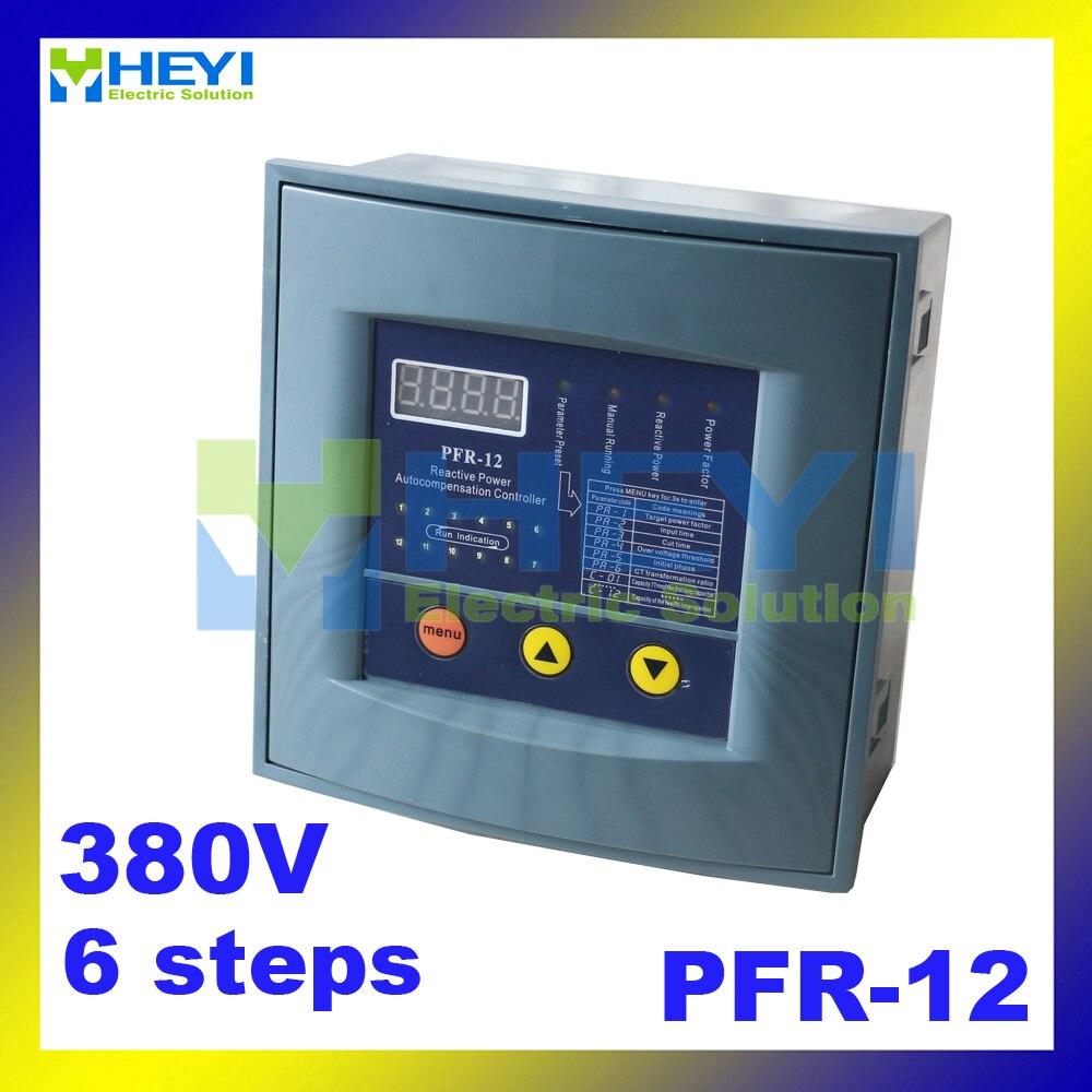 Reactive power compensation controller JKW58 reactive power controller compensation PFR RVT 6steps 380v for power factor