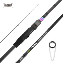 Kingdom KING II 2019 New spinning High Quality Fishing Rods 2pc Top Section 2pc Power Rod Great bass Reel lure set Fishing Rods