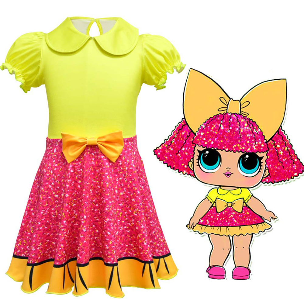 Girl's Surprise Cosplay Costume Kids' Cute Princess Dress Party Halloween Christmas Fancy Costume Children's Clothing