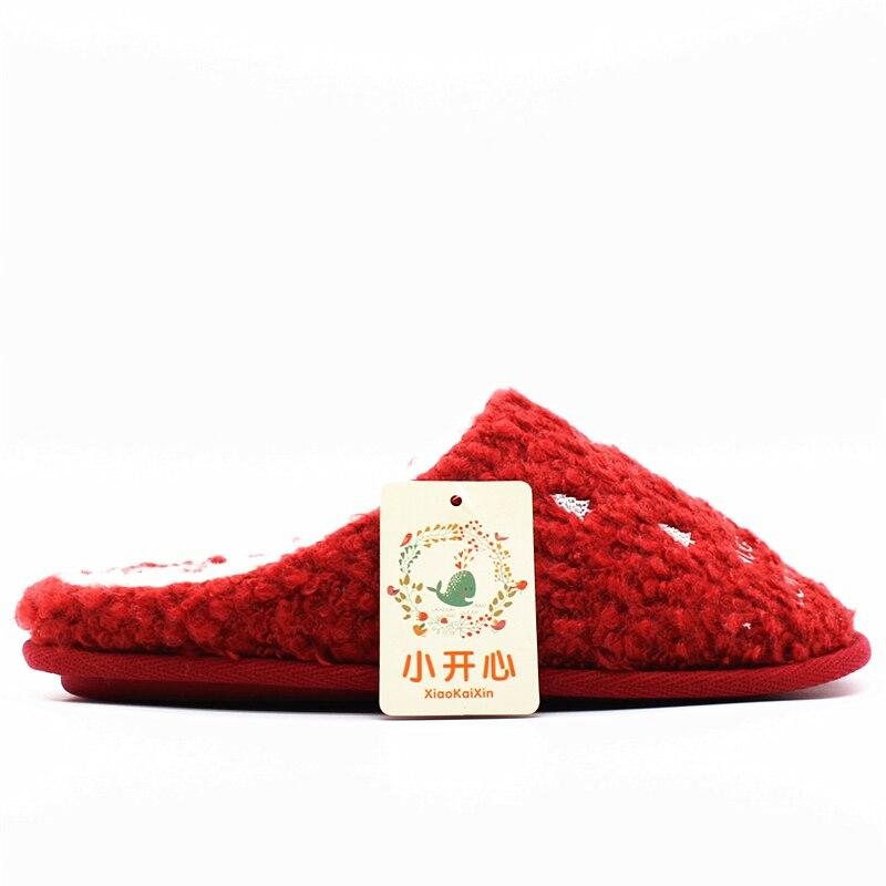 Cadeaux Chaud Plancher Arbre 2018 Maison Coton Femmes Pantoufles Rouge Hiver De Motif Noël Christmas Chaussures Slippers Intérieur Nouvelle Dames Aa8qw
