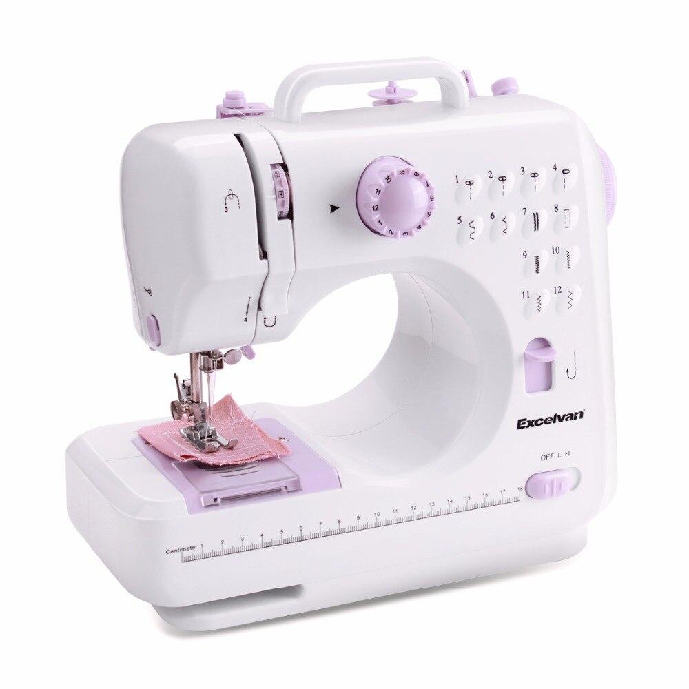 Mini máquinas de coser eléctricas 12 puntos de puntada de dos ...