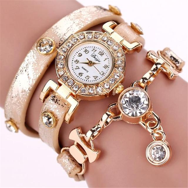 Duoya Women Watches Gemstone New Luxury Bracelet Watches Dress Women Dress Fashi