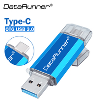 New DataRunner Type C USB Flash Drive 128GB Usb Stick 3.0 OTG Pen Drive 16GB 32GB 64GB 256GB Pendrive for Type-C SmartPhone leizhan otg usb stick type c pen drive 256gb 128gb 64gb 32gb 16gb usb flash drive 3 0 high speed pendrive for type c device usb