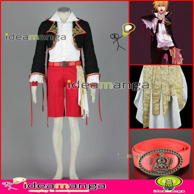 [ideamanga]Manga Amime V+ VOCALOID Gothic style Kagamine Len boy's Cosplay Costume man male halloween party dress Any Size