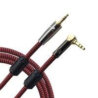 Audiophile AUX Audio Cable Angle Mini Jack 3 5mm Male To Male Phone Headphone Car Braid