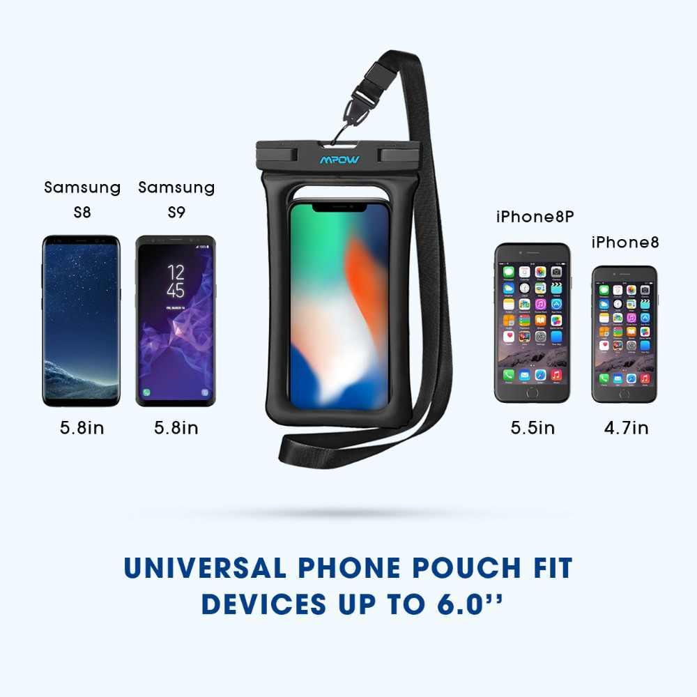 Mpow Оригинальный Универсальный IPX8 водонепроницаемый чехол для телефона сплавной Прозрачная крышка сухой мешок для iPhone X/8/8 плюс/7/plus/6/6 plus 2 Pack