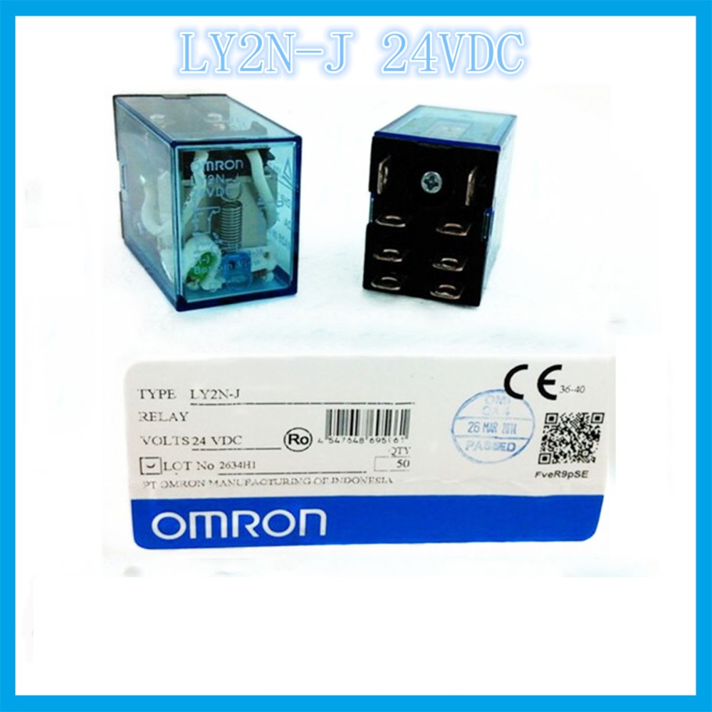 LY2N-J  DC 24V  8 feet 2A2B 10A OMRON  relay Two open two closed 8 needle electronic component  solid state relays