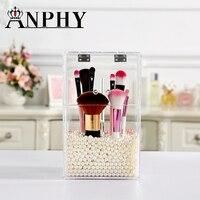Brush Organizer Box Acrylic Make Up Organizer Storage Box Clear Plastic Cosmetic Storage Box Makeup Organizer C138 10